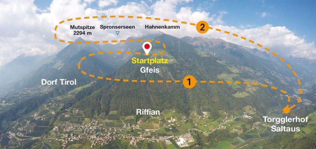Fluggebiet Gfeis Südtirol